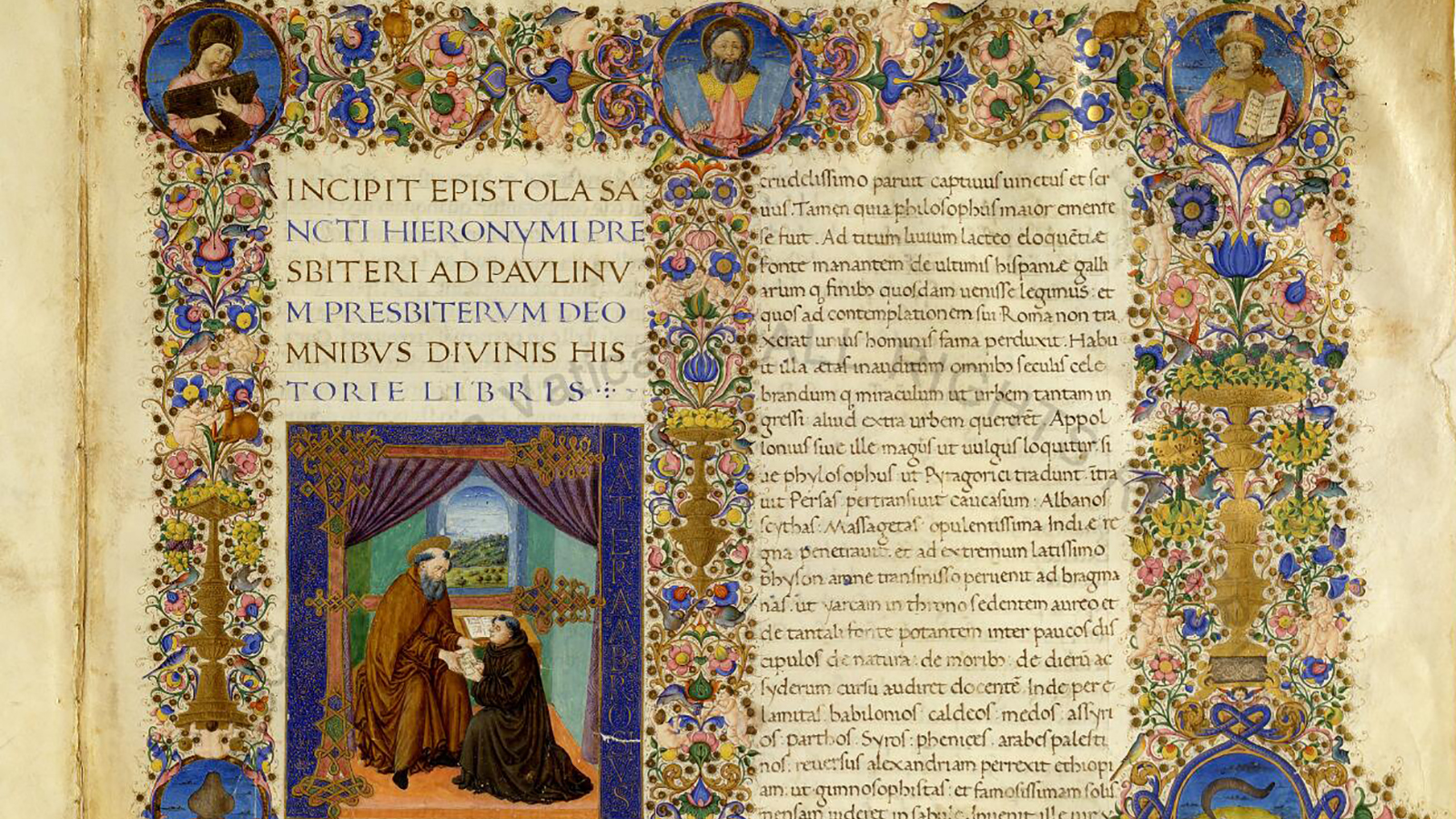Detail of 2R from Manuscript - Urb.lat.1 in the Biblioteca Apostolica Vaticana collection